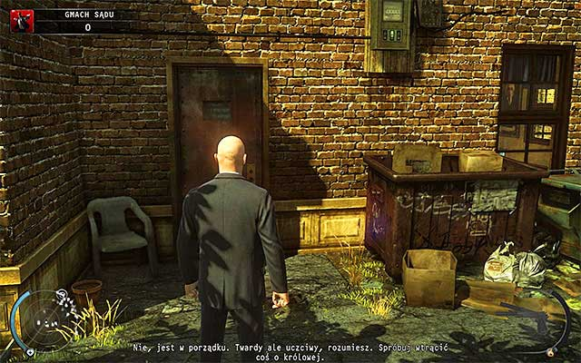 Do not worry, if you haven't managed to get to the terminal computer on the balcony, because there is another one in the area - Courthouse - Getting to the holding cells in defendant disguise - 15: Skurkys Law - Hitman: Absolution - Game Guide and Walkthrough