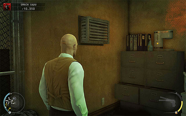 In the evidence room you may encounter at least two court security guards, so you have to be very careful - Courthouse - Getting to the holding cells in a traditional way - 15: Skurkys Law - Hitman: Absolution - Game Guide and Walkthrough