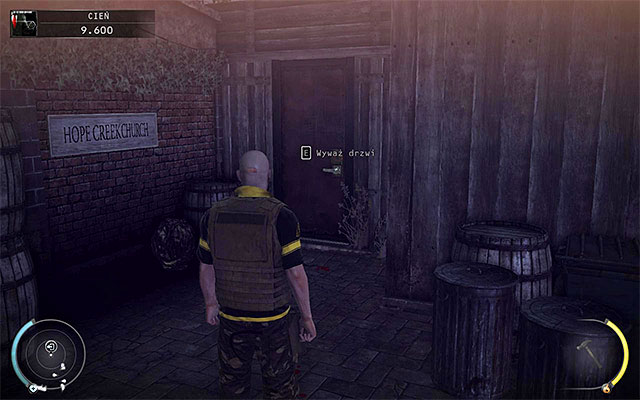 Regardless of whether you've got the secret or not, you have to reach the door shown on the above screen - Hope Fair - 16: Operation Sledgehammer - Hitman: Absolution - Game Guide and Walkthrough