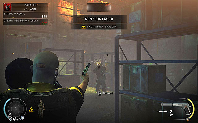Now go to the main warehouse area and kill three more targets - 16: Operation Sledgehammer - Challenges - Hitman: Absolution - Game Guide and Walkthrough