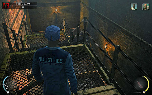 Important information about the research department is that the main stairs even on lower levels are guarded by many factory guards - R&D - Exploring R&D - 12: Death Factory - Hitman: Absolution - Game Guide and Walkthrough
