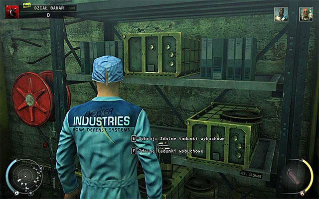 Another aggressive method is using a proximity mine or remote explosives - R&D - Murdering Dr. Valentine - 12: Death Factory - Hitman: Absolution - Game Guide and Walkthrough