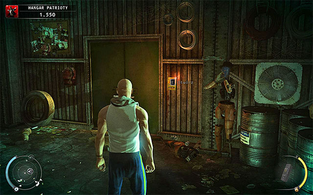 Wait, until one of Patriot's men appears here and then attack him - Patriot's Hangar - Using a keycard - 13: Fight Night - Hitman: Absolution - Game Guide and Walkthrough