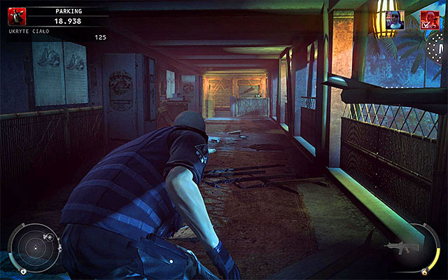 I recommend that you acquire Agencys soldier disguise from one of the attacked enemies before heading to the next area - Parking - Reaching the area patrolled by Heather McCarthy - 14: Attack of the Saints - Hitman: Absolution - Game Guide and Walkthrough