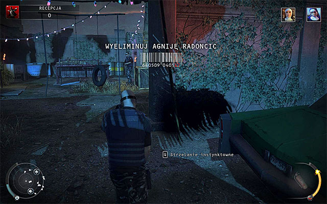 If you didnt make it in time to take care of Dijana or if youve chosen to remain unnoticed, then she will begin travelling between the reception and a gas station seen in the distance - Reception - Murdering Dijana and Agnija Radoncic - 14: Attack of the Saints - Hitman: Absolution - Game Guide and Walkthrough