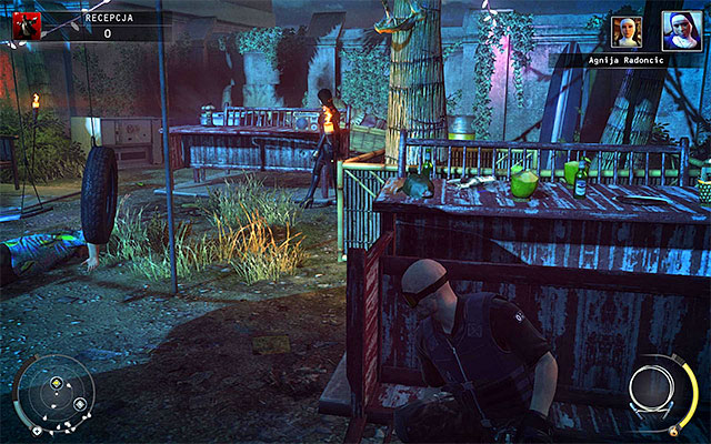 Another idea for getting rid of only Agnija is to turn on the radio found in the recently secured area of the map - Reception - Murdering Dijana and Agnija Radoncic - 14: Attack of the Saints - Hitman: Absolution - Game Guide and Walkthrough