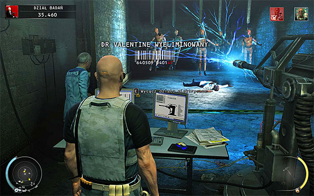 Once Valentine stops near mannequins, use the terminal again to activate the mega-taser - 12: Death Factory - p. 2 - Challenges - Hitman: Absolution - Game Guide and Walkthrough