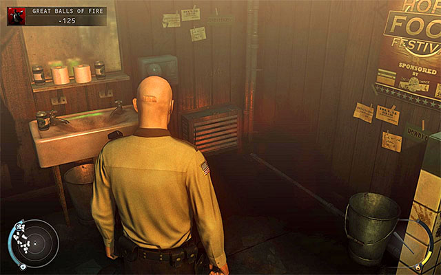 Another method is using the ventilation shaft shown on the above screen - Great Balls of Fire - Getting to the bartender without a fight - 7: Welcome to Hope - Hitman: Absolution - Game Guide and Walkthrough