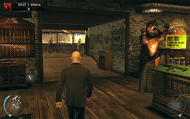 Start with getting to the shooting range with one of available passages, for example the one located near the starting place (screen above) - Gun Shop - Winning the shooting range contest - 8: Birdie's Gift - Hitman: Absolution - Game Guide and Walkthrough