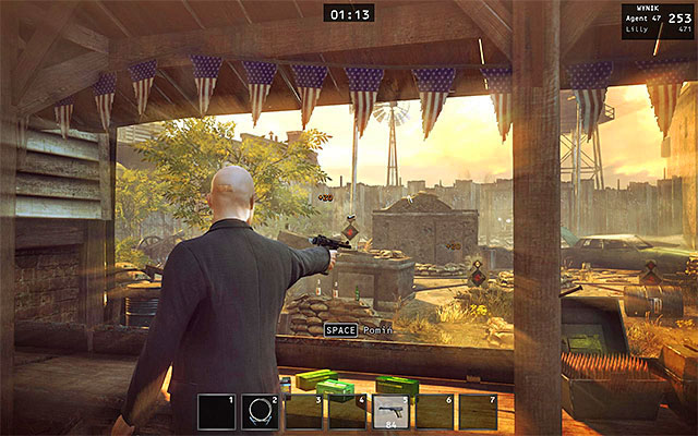 Gaining 471 points is not possible in a standard way, so you have to use Instinct from time to time - Gun Shop - Winning the shooting range contest - 8: Birdie's Gift - Hitman: Absolution - Game Guide and Walkthrough
