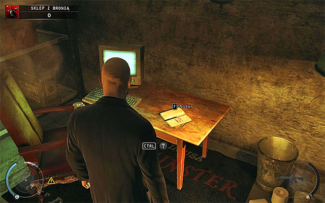 Inside the bunker you'll find first of all a notebook with the safe combination - Gun Shop - Getting the key to the cabinet - 8: Birdie's Gift - Hitman: Absolution - Game Guide and Walkthrough