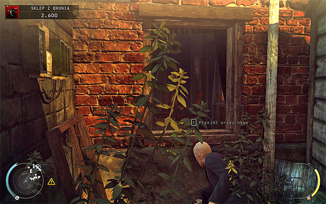 Regardless of how you get close to gun shop owner's office, use the shutter shown on the above screen, but first make sure that the room is empty - Gun Shop - Getting the key to the cabinet - 8: Birdie's Gift - Hitman: Absolution - Game Guide and Walkthrough