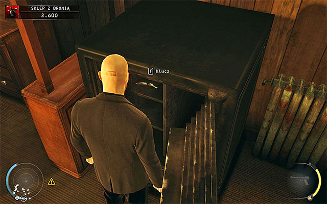 Regardless of your behavior, you have to open the safe and take a keycard to the cabinet out of it - Gun Shop - Getting the key to the cabinet - 8: Birdie's Gift - Hitman: Absolution - Game Guide and Walkthrough