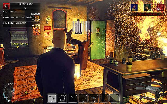 Another method of killing Tyler is using a gas stove and shooting it to make an explosion - Streets of Hope - Murdering Tyler Colvin - 9: Shaving Lenny - Hitman: Absolution - Game Guide and Walkthrough