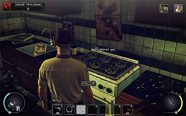 If you want to get rid of Wheeley in more original way, you can kill him using the explosion of gas stove - Barbershop - Murdering Luke Wheeley - 9: Shaving Lenny - Hitman: Absolution - Game Guide and Walkthrough
