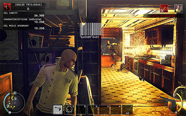 After turning it on, it is best to withdraw to the corridor located at the main entrance to the building - Barbershop - Murdering Luke Wheeley - 9: Shaving Lenny - Hitman: Absolution - Game Guide and Walkthrough