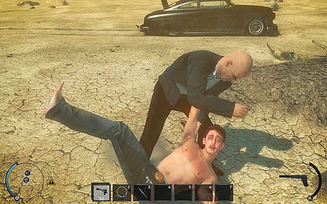 If you want to murder Lenny, you can beat him in a melee fight - Desert - 10: End of the Road - Hitman: Absolution - Game Guide and Walkthrough