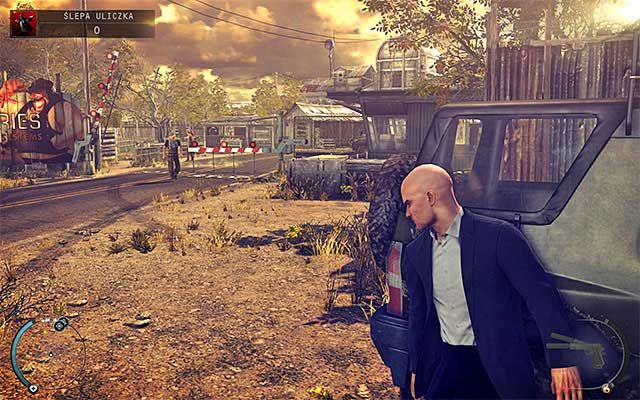 You start the mission at the entrance to the Dexter Industries complex and this is the only place where you do not have to sneak - Dead End - Disabling primary and backup security systems - 11: Dexter Industries - Hitman: Absolution - Game Guide and Walkthrough