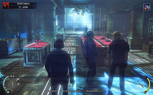 In the room with a huge whale skeleton (screen above), you'll encounter a large group of enemies, but you might look around - Penthouse - Exploring the penthouse - 18: Blackwater Park - Hitman: Absolution - Game Guide and Walkthrough