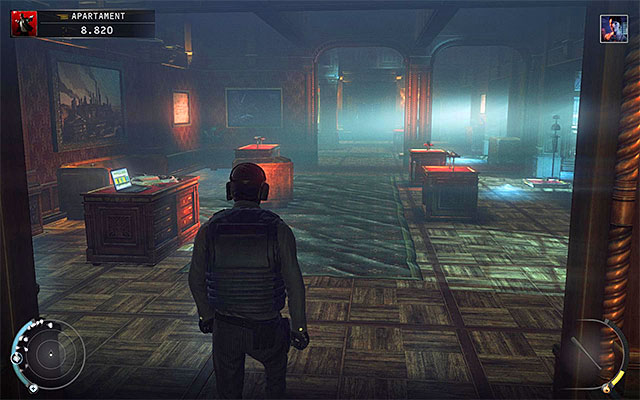 In the office room, adjacent to the one described above, you should encounter only two still opponents, so you can explore it without problems - Penthouse - Exploring the penthouse - 18: Blackwater Park - Hitman: Absolution - Game Guide and Walkthrough
