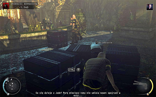 Using the path described above will not only get you closer to the central area of the cemetery, but also allows you to reach the ready-to-wear Agency technician disguise - Burnwood Family Tomb - Exploring the tomb area - 20: Absolution - Hitman: Absolution - Game Guide and Walkthrough