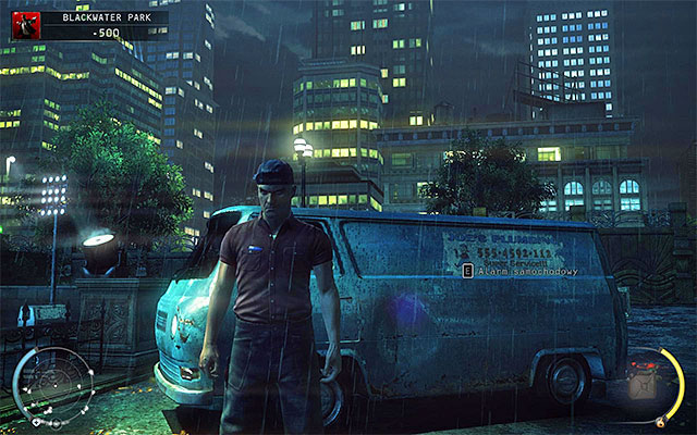Plumber disguise can be obtained in the Blackwater Park stage and only in one place - 18: Blackwater Park - p. 1 - Challenges - Hitman: Absolution - Game Guide and Walkthrough