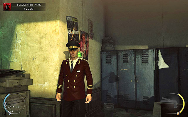 Blackwater manager disguise can be obtained in the Blackwater Park stage and in order to do it, you have to attack a proper person wandering in the main building (try to do it in some secluded place) - 18: Blackwater Park - p. 1 - Challenges - Hitman: Absolution - Game Guide and Walkthrough