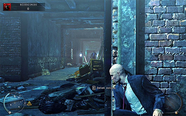 Start with the linear path, passing by a vagrant who is no threat for you - Courtyard - 5: Hunter and Hunted - Hitman: Absolution - Game Guide and Walkthrough