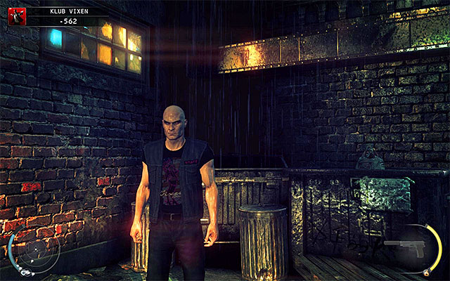 Strip club bouncer disguise might be obtained in The Vixen Club or Dressing Rooms stage - 5: Hunter and Hunted - p. 1 - Challenges - Hitman: Absolution - Game Guide and Walkthrough