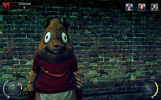 Chipmunk costume is a hidden disguise and the only opportunity to get it occurs in Chinese New Year stage - 5: Hunter and Hunted - p. 1 - Challenges - Hitman: Absolution - Game Guide and Walkthrough