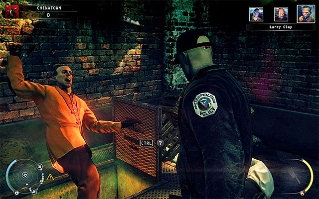 Wait for the start of the conversation, during which Larry will knock the vendor on the ground and start preparing for murdering him - 5: Hunter and Hunted - p. 2 - Challenges - Hitman: Absolution - Game Guide and Walkthrough