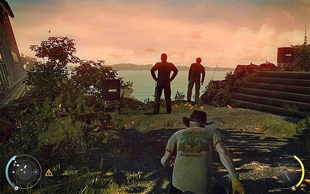 مراقب باشید محافظان ایستاده در کنار صخره - گلخانه - 1: قرارداد شخصی - هیتمن: Absolution - راهنمای بازی و گام به گام