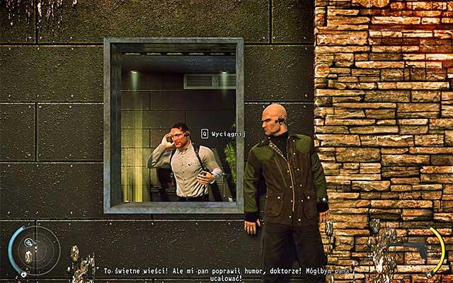 حرکت به سمت چپ، توقف در شاتر، جایی که شما گارد را ببینید - Cliff - 1: قرارداد شخصی - Hitman: Absolution - راهنمای بازی و گام به گام