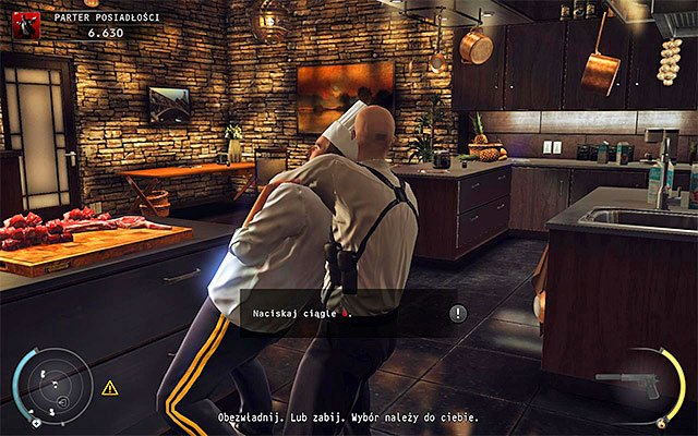 Mansion interior guard disguise is not the only available option, because you can also try to obtain chef disguise - Mansion ground floor - 1: Personal Contract - Hitman: Absolution - Game Guide and Walkthrough