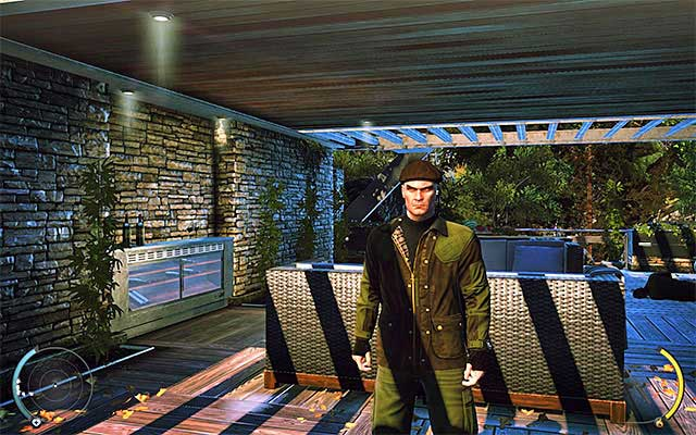 The easy way to obtain mansion exterior guard disguise is to stun or kill one of the enemies at the beginning of Greenhouse stage - 1: Personal Contract - Challenges - Hitman: Absolution - Game Guide and Walkthrough