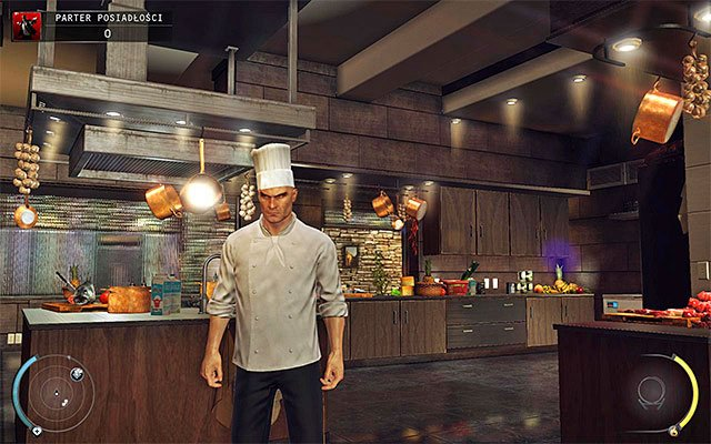 Chef disguise requires neutralizing a chef cook in the mansion (Mansion ground floor stage) - 1: Personal Contract - Challenges - Hitman: Absolution - Game Guide and Walkthrough