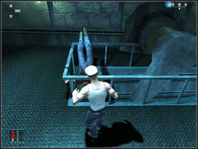 Hide between the crates to the right (looking from the starting position) and wait for the sailor to get near - Death of the Mississippi - Walkthrough - Hitman: Blood Money - Game Guide and Walkthrough