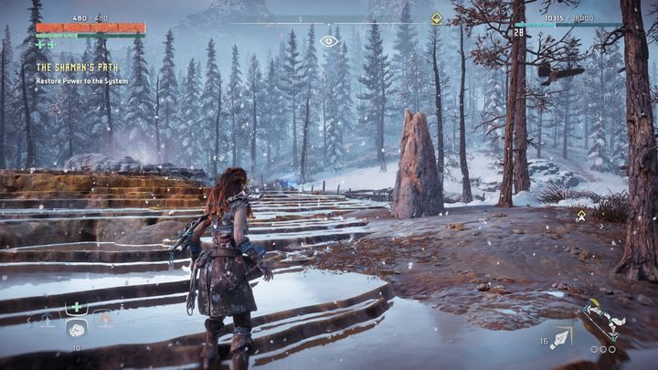 There are hot springs near the bandit camp - Pigments - Secrets and collectibles - Secrets and collectibles - Horizon Zero Dawn Game Guide