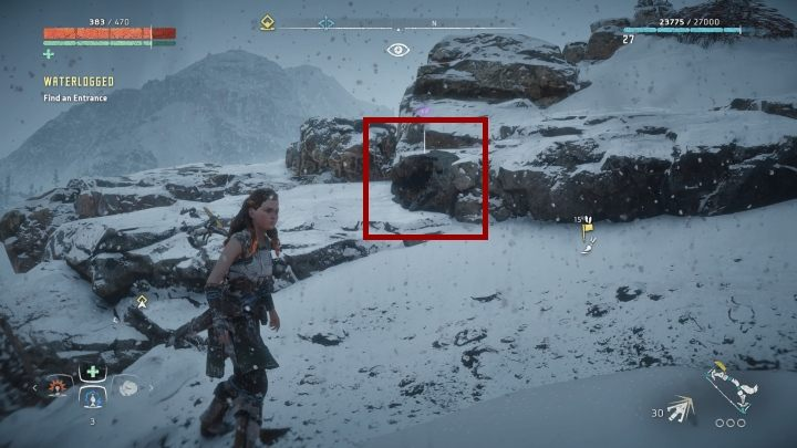 There is a mountain narrow path going from the bandit camp - Pigments - Secrets and collectibles - Secrets and collectibles - Horizon Zero Dawn Game Guide