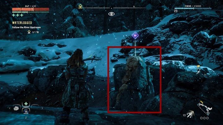 You will find a large lake on your way to the Longnotch - Pigments - Secrets and collectibles - Secrets and collectibles - Horizon Zero Dawn Game Guide
