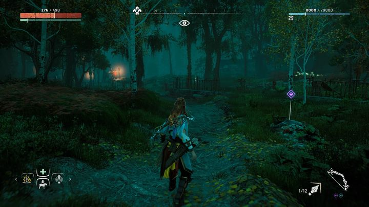 Near the marker you can find a path going from the bandits camp in Devils Thirst - Ancient Vessels | Collectibles - Collections - Horizon Zero Dawn Game Guide