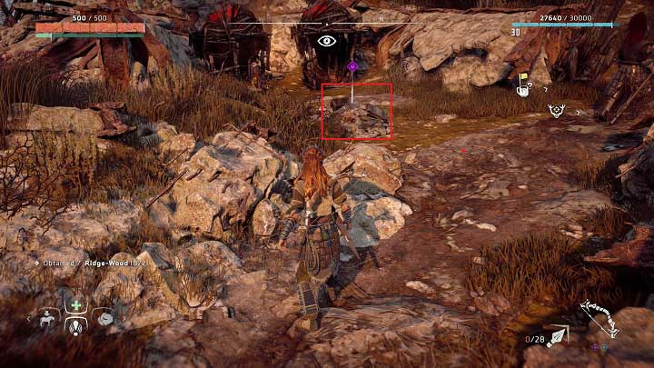 If you want to get access to the artifact you must first enter the bandit camp in this location - Ancient Vessels | Collectibles - Collections - Horizon Zero Dawn Game Guide