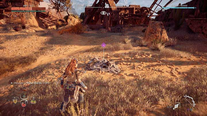 The vessel is near the Dimmed Bones ruins - Ancient Vessels | Collectibles - Collections - Horizon Zero Dawn Game Guide