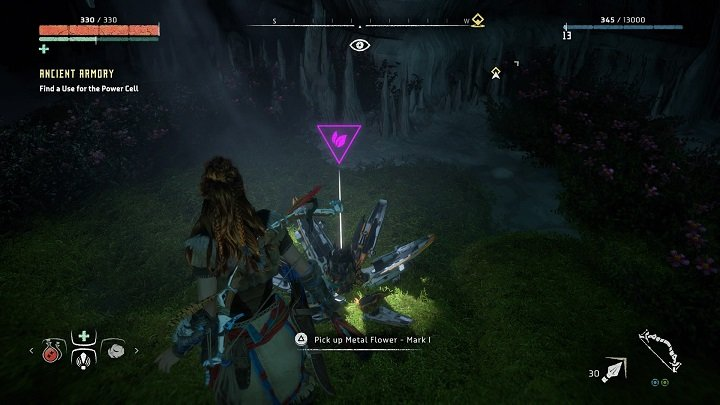 Return to the ruins that you explored during the prolog - Metal Flowers | Collectibles - Collections - Horizon Zero Dawn Game Guide