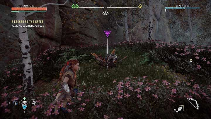 On the way between Embrace and Mothers Crown you can find an abandoned village - Metal Flowers | Collectibles - Collections - Horizon Zero Dawn Game Guide