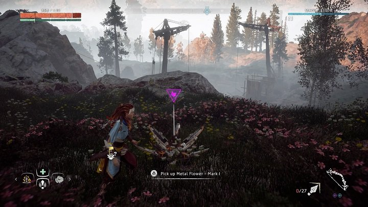 Go to the region that you once explored during The War-Chiefs Trail quest - Metal Flowers | Collectibles - Collections - Horizon Zero Dawn Game Guide