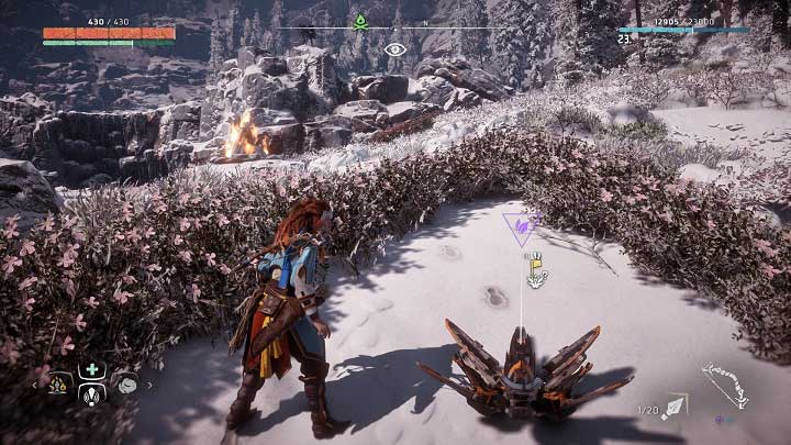 The flower is near one of the campfires - Metal Flowers | Collectibles - Collections - Horizon Zero Dawn Game Guide