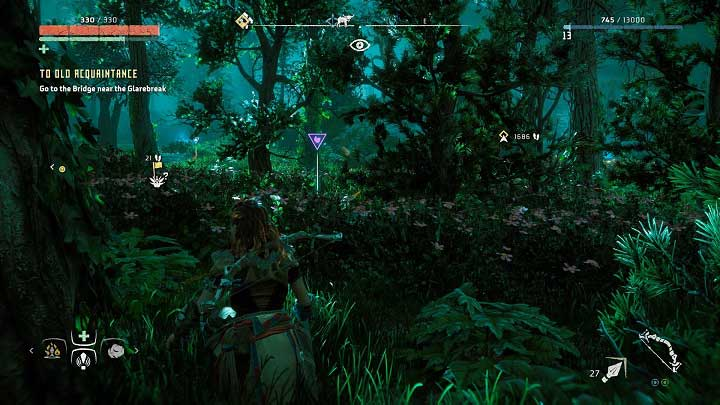 The flower is hidden in the bushes which can make the task a little bit more difficult - Metal Flowers | Collectibles - Collections - Horizon Zero Dawn Game Guide