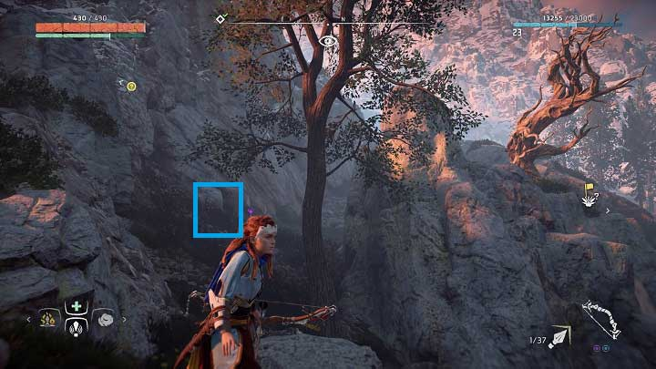 The last flower from the first set can be found near the road between Mothers Crown and Hunters Gathering - Metal Flowers | Collectibles - Collections - Horizon Zero Dawn Game Guide