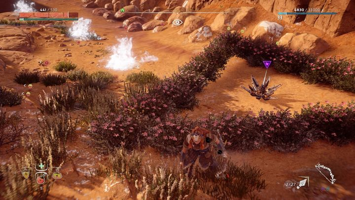 The easiest way to get to the flower is to start in Daytower - Metal Flowers | Collectibles - Collections - Horizon Zero Dawn Game Guide